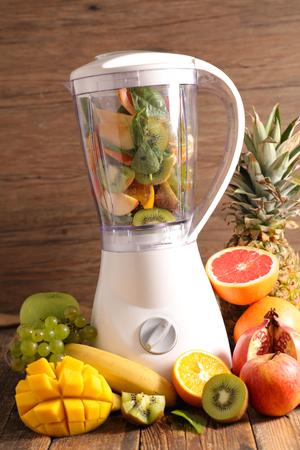 blender: blender and fresh fruit