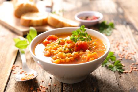lentils soup 스톡 콘텐츠