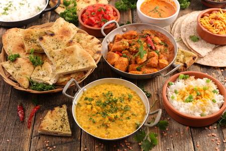 인도 음식 모듬 스톡 콘텐츠