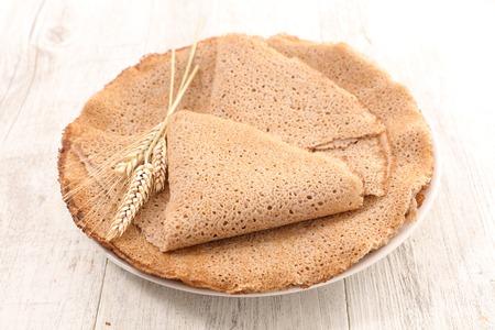 buckwheat crepe Stock Photo
