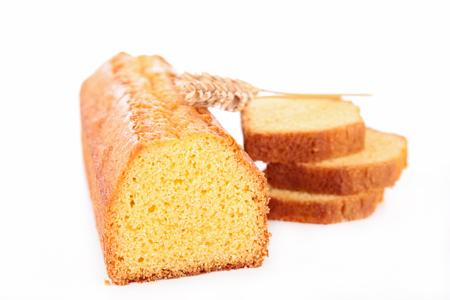loaf cake isolated on white Stock Photo