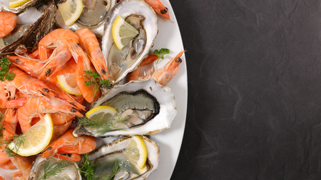 platter of seafood Stock Photo