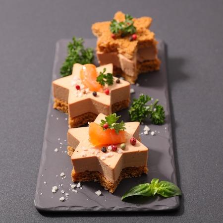 christmas toast, foie gras canape