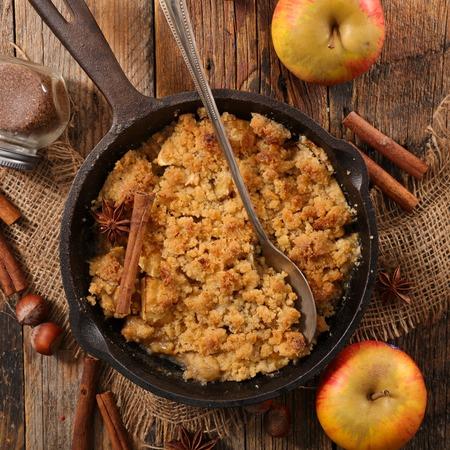 homemade apple crumble Stock Photo
