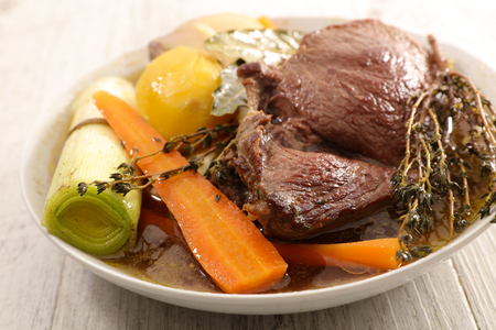 pot au feu, beef stew with vegetable Stock Photo