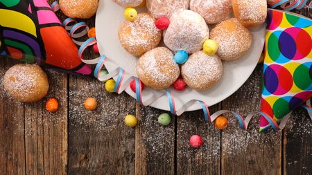 donut with carnival decoration