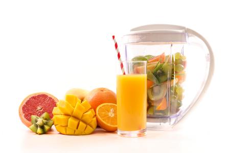 Fruit juice isolated on white background
