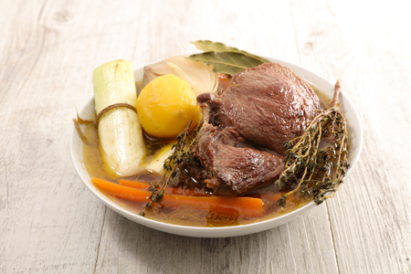 beef, broth and vegetable