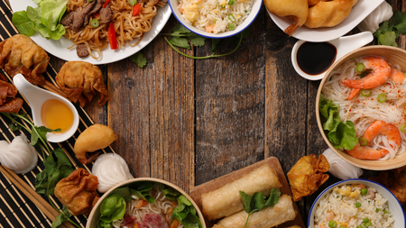 nourriture chinoise assorted