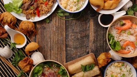 różne chińskie jedzenie