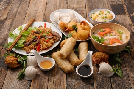 selection of asia food