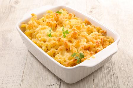 cheesy pasta in dish