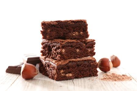 chocolate brownie and hazelnut