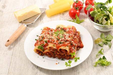 homemade canneloni with beef Stockfoto