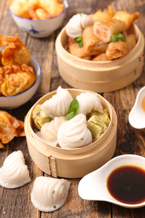 selection of asian food Stock Photo