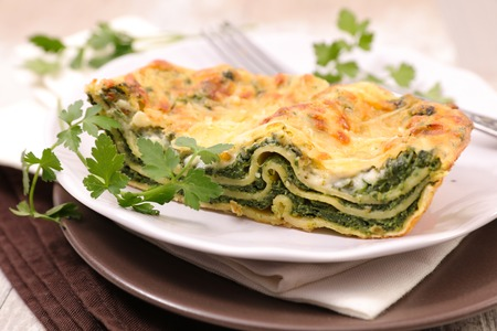 homemade spinach lasagne