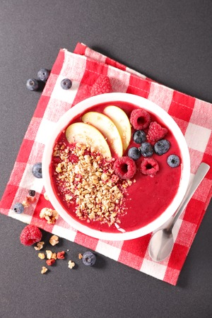 smoothie bowl and fruit Stok Fotoğraf