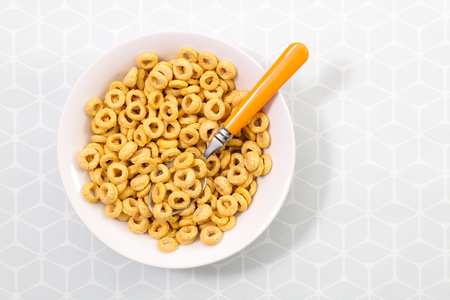 bowl of breakfast cereal Stock Photo