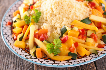 couscous with vegetables Stock Photo - 98292132