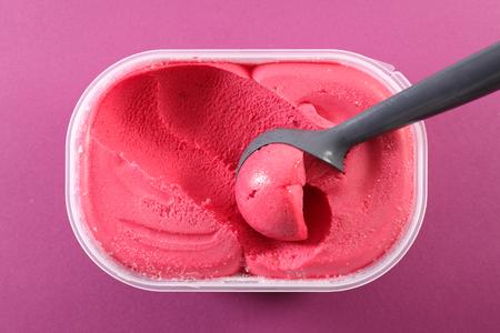 ice cream and scoop