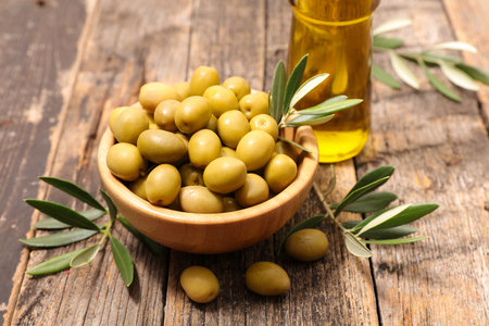 green olive and branch