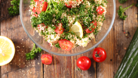 tabbouleh salad with vegetables