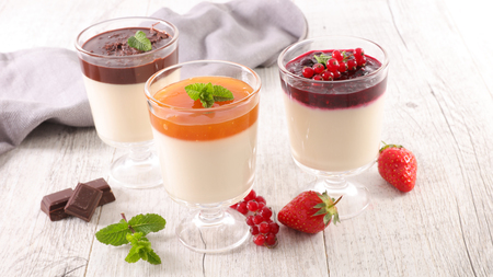 different sort of panna cotta