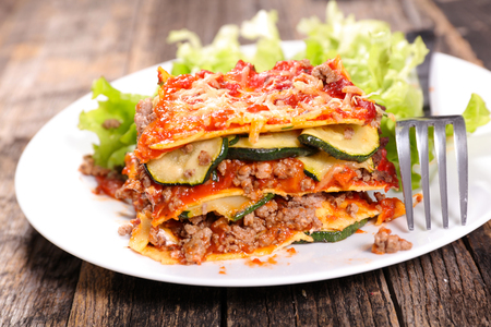 lasagne with beef and zucchini