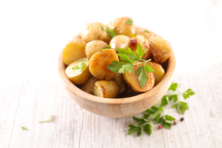 roasted potato and herbs