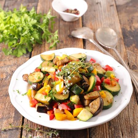 ratatouille, vegetable stew Stock Photo