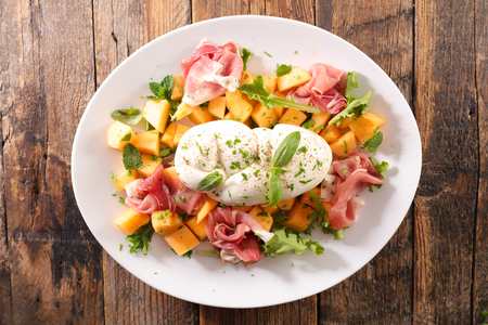 melon, ham and mozzarella