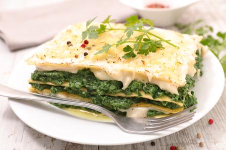 Spinat-Sahne-Lasagne