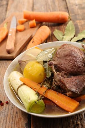 beef stew and carrot