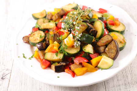 ratatouille, grilled vegetable and thyme Stock Photo