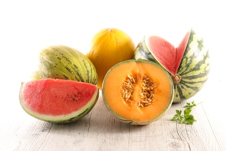 assorted melon and watermelon Archivio Fotografico