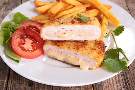 cordon blue and french fries