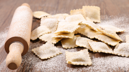 homemade ravioli and ingredient