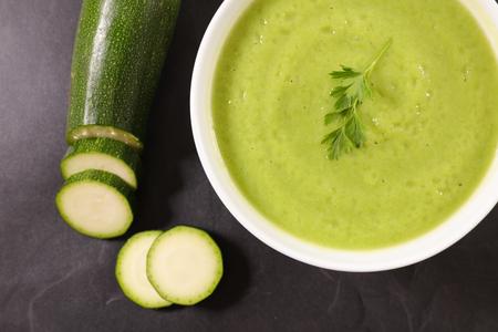zucchini soup bowl
