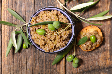 mixed green olive, tapenade