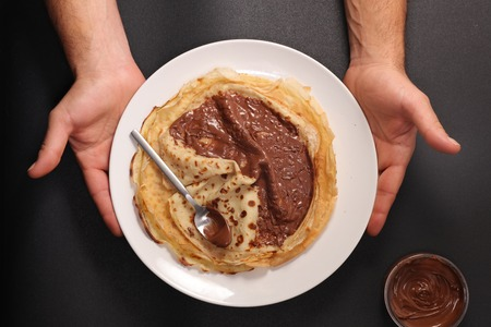 Crepe with chocolate spread