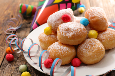 carnival donut and decoration