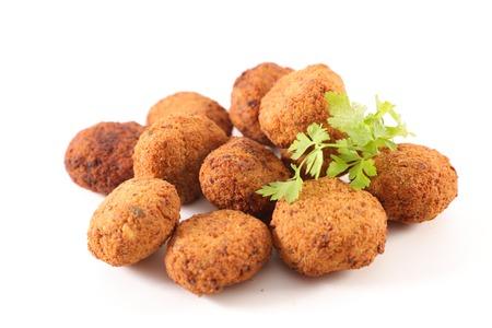 falafel isolated on white background
