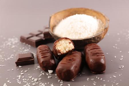 chocolate coconut candy 免版税图像
