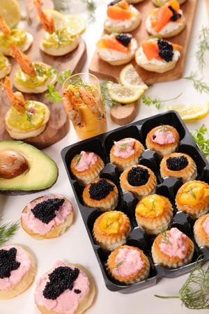 assorted caterer dining buffet