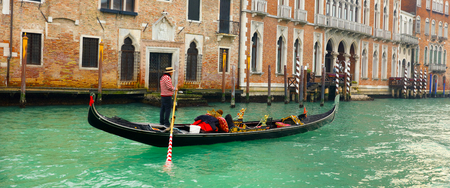 Venice in italy, gondola in the canal