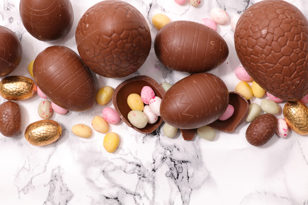 easter chocolate egg and candy