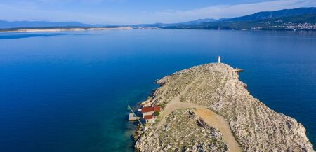 krk island, aerial view in croatia