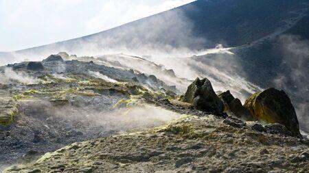 amazing fumarole, vulcano island to aeolian islands- Sicily