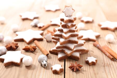 christmas gingerbread cookie and spices