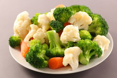 cabbage vegetable, broccolis, carrot and cauliflower